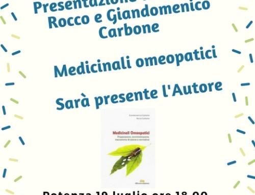 """PRESENTAZIONE DEL LIBRO DI ROCCO CARBONE """"MEDICINALI OMEOPATICI"""" DIBUONO EDIZIONI"""