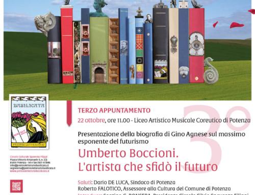"""PRESENTAZIONE DEL LIBRO DI GINO AGNESE """"UMBERTO BOCCIONI. L'ARTISTA CHE SFIDO' IL FUTURO"""""""